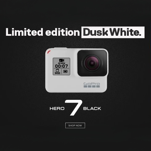 Gopro 7 Black Dusk White - Limited Edition